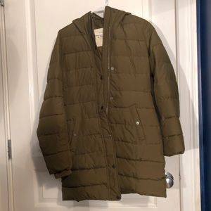 Abercrombie & Fitch knee length puffer jacket